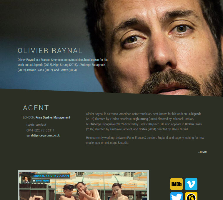 Olivier Raynal, Site Web par Christopher Freeman.